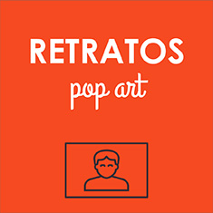 Regalos Retratos personalizados: Retratos Pop Art