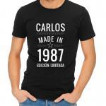 Regalos con nombre: Camiseta personalizada 'Made in'