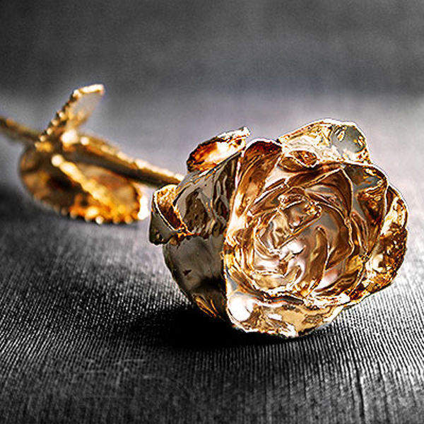 Rosa de oro personalizada - Regalos 50 anos de casados ...