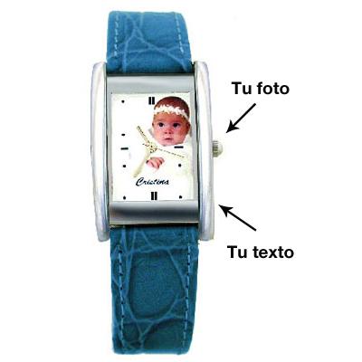 Reloj cuadrado piel para mujer - Hacer reloj de pared con fotos ...