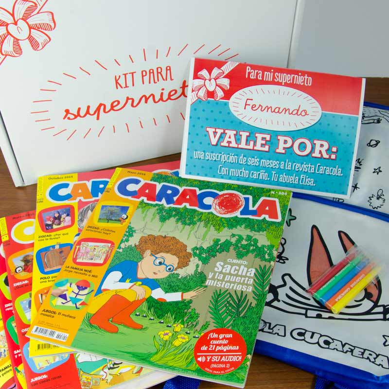 Regalos personalizados Cofre regalo: Kit Supernietos regalo educativo de 4 a 7 años
