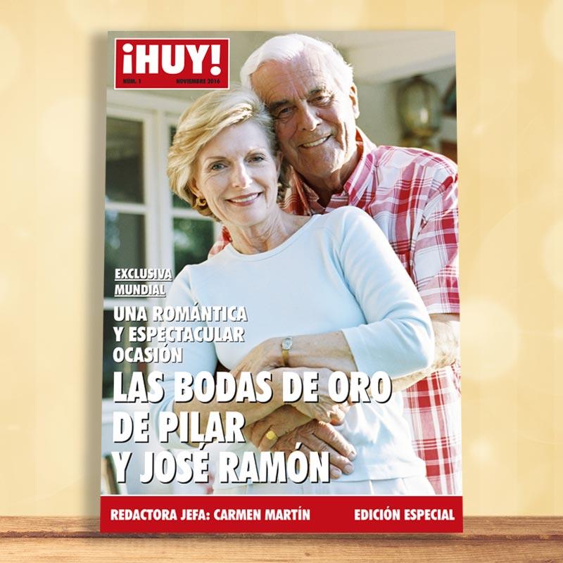 Falsa Portada De Revista Boda De Oro Y Plata