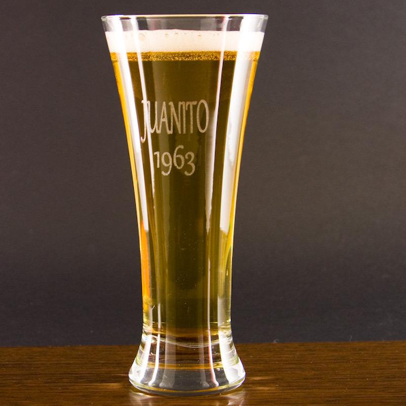 copa de cerveza alemana grabada