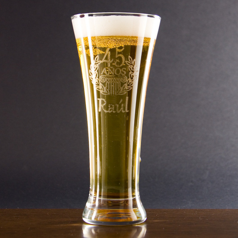 Copa de cerveza grabada para cumplea os for Copa cerveza