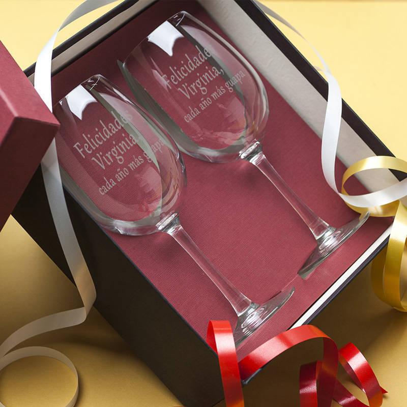 9523aab35 Regalos personalizados Vinos Personalizados: Copas de vino