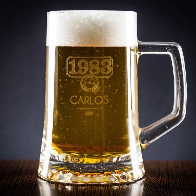 Jarra de cerveza a o de nacimiento for En 8 dias cumplo anos