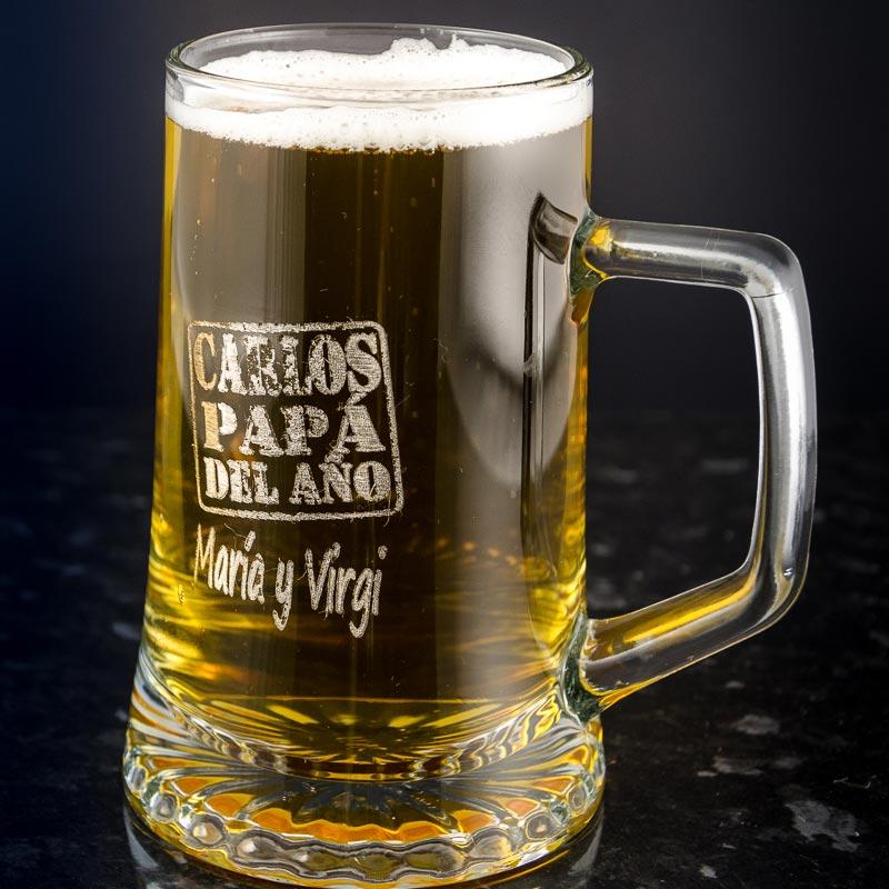 Jarra de cerveza para el padre del a o for Jarras para cerveza