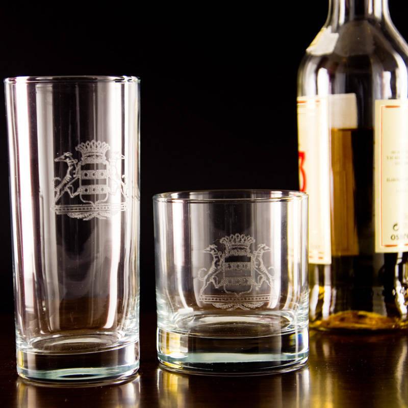 Vaso de whisky grabado con escudo - Vasos personalizados ...