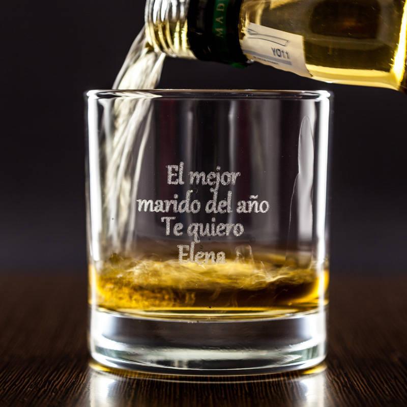 Vaso de whisky grabado con texto for Copas para whisky