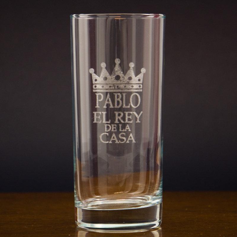 Vaso de whisky grabado para el rey de la casa for Copas para whisky