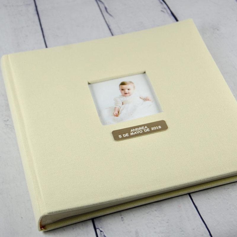 Álbum de fotos bautismo grabado