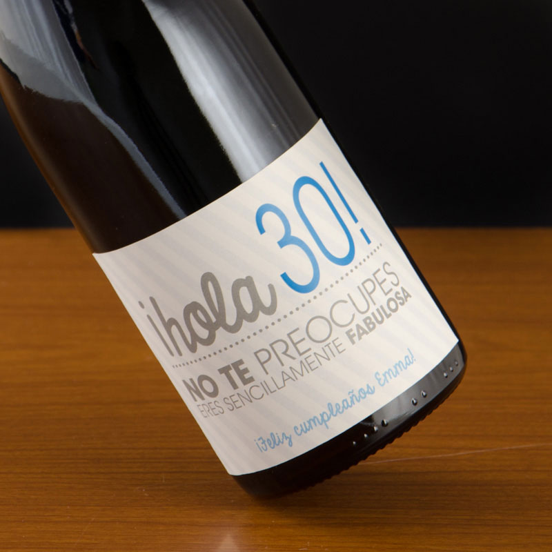 Botella de vino 30 cumplea os - Ideas para fiesta 40 cumpleanos ...