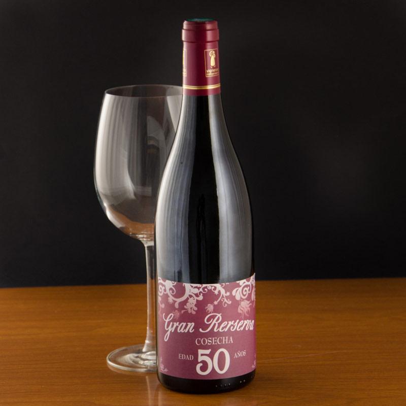Botella de vino 50 a os - Botelleros de vino ...