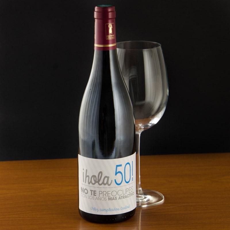 Botella de vino 50 cumplea os - Botelleros de vino ...