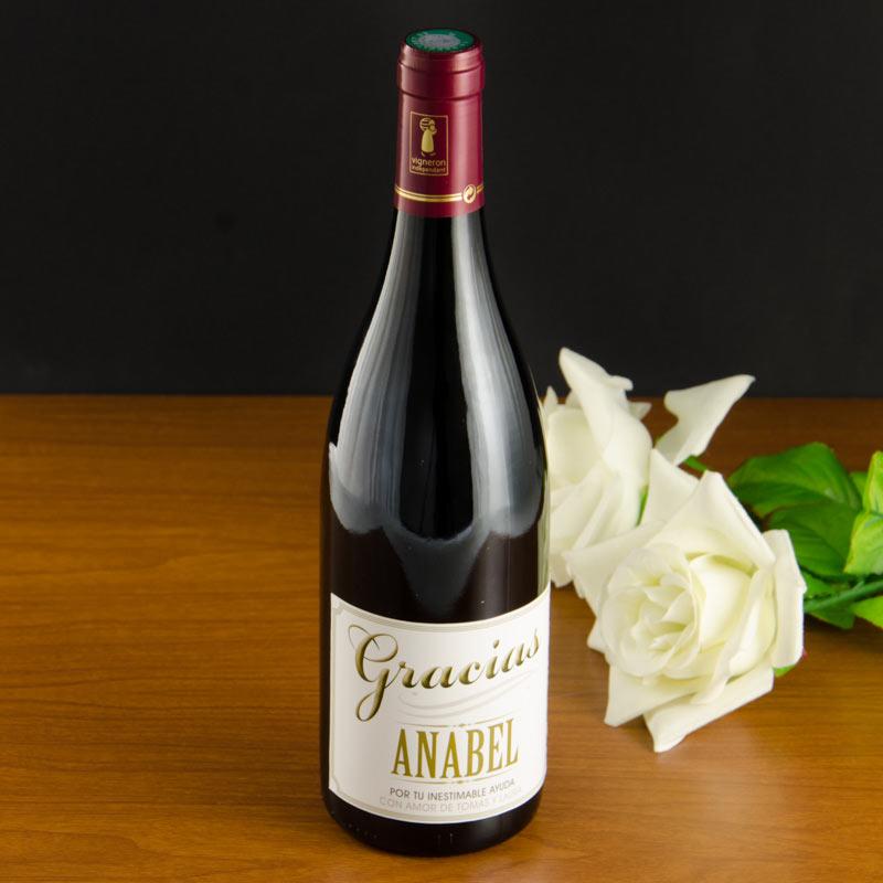 Botella de vino agradecimiento - Botelleros de vino ...