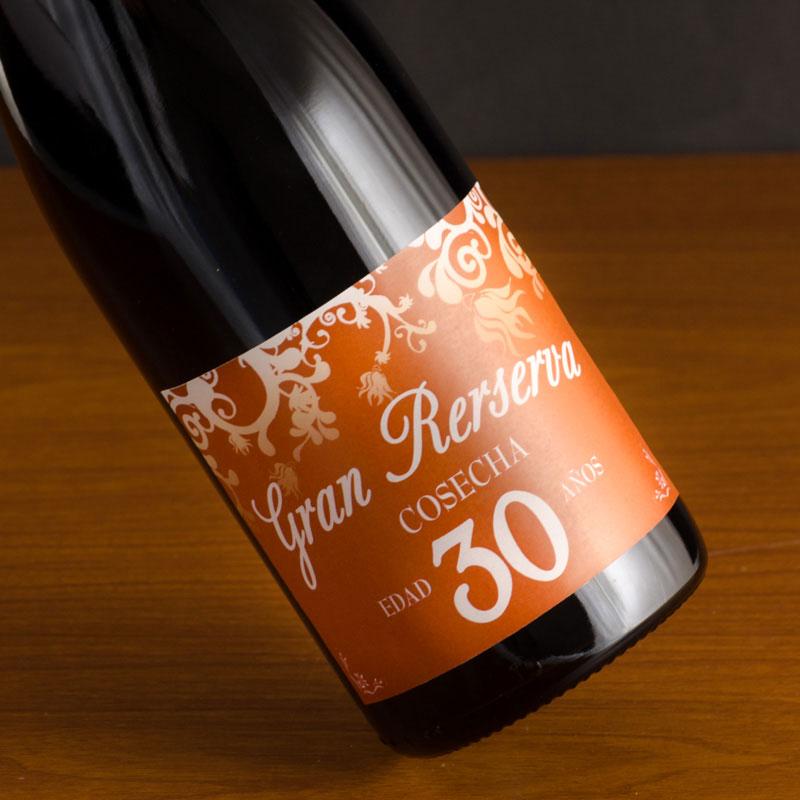 Botella de vino etiqueta 30 cumplea os - Ideas originales para 40 cumpleanos ...