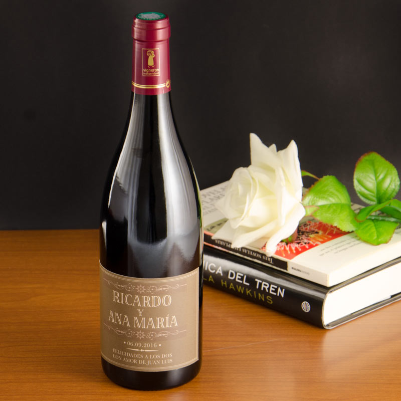 Botella de vino para regalar - Botellas de vidrio para regalo ...