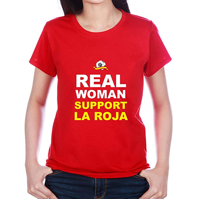 Camiseta Divertida Real Woman para futboleras