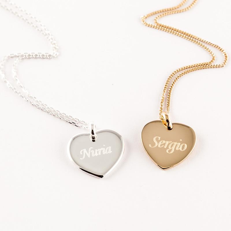 f8e86954e37b Regalos personalizados Joyas personalizadas  Colgante corazón grabado