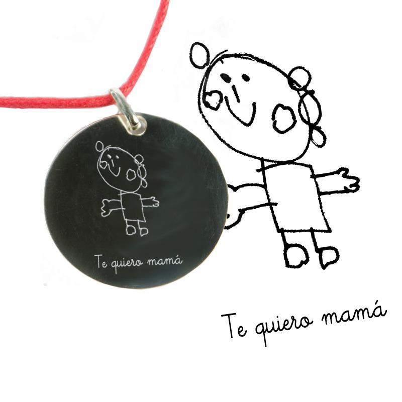 8a4978499578 Regalos personalizados Joyas personalizadas  Colgante de plata grabado con  dibujo
