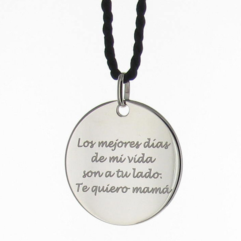 6fda7e61b4f1 Regalos personalizados Joyas personalizadas  Colgante de plata Mamá  personalizado