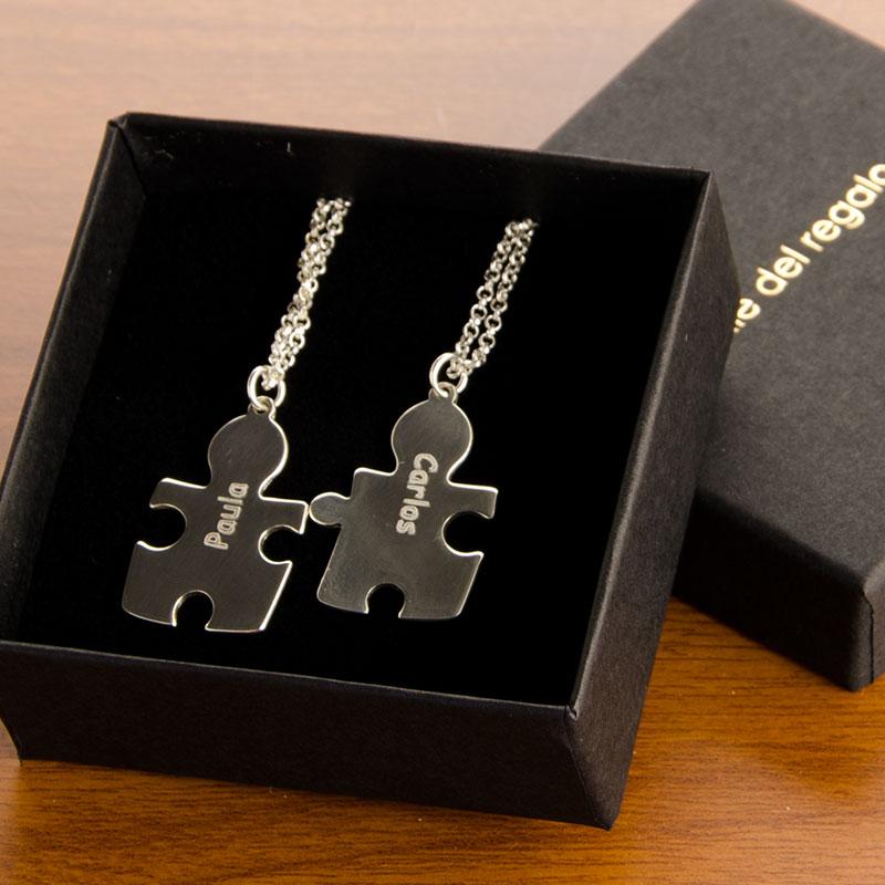 Colgante piezas de puzzle grabadas - Regalos parejas originales ...