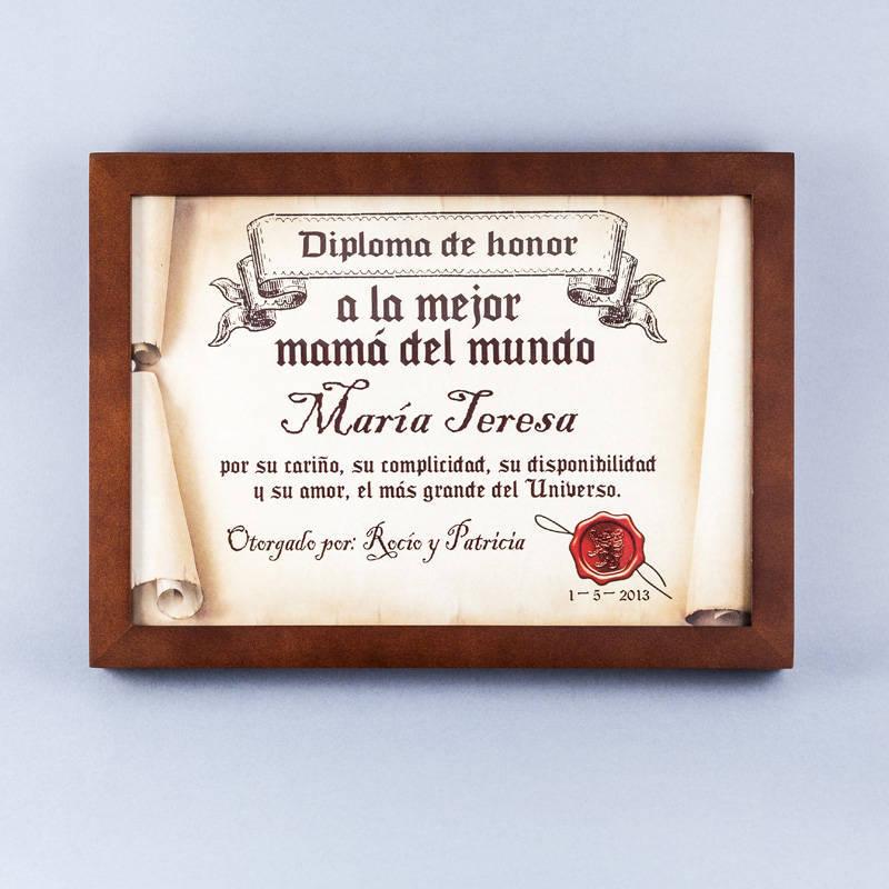 Diploma Para La Mejor Madre