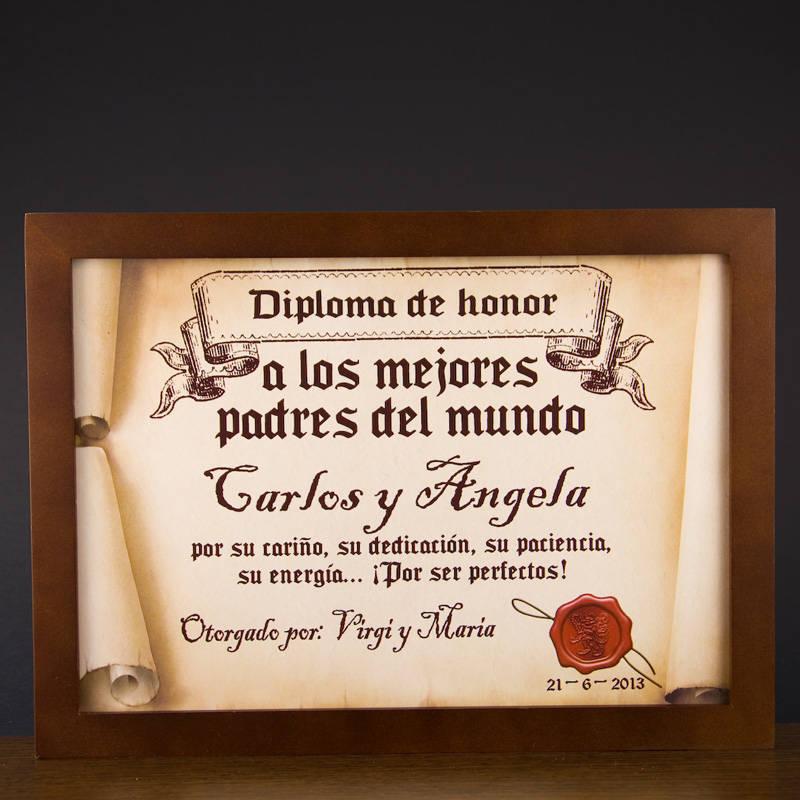 Diploma pergamino a los mejores padres del mundo - Los mejores carnavales del mundo ...