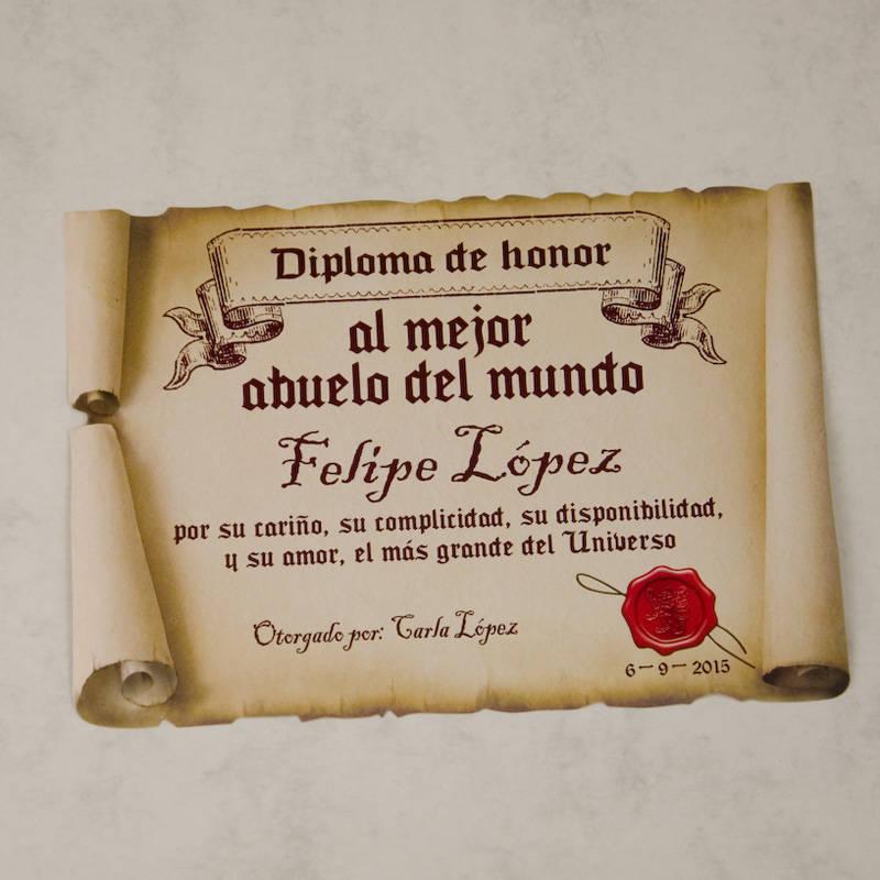 Diploma pergamino al mejor abuelo for Regalos para mi padre
