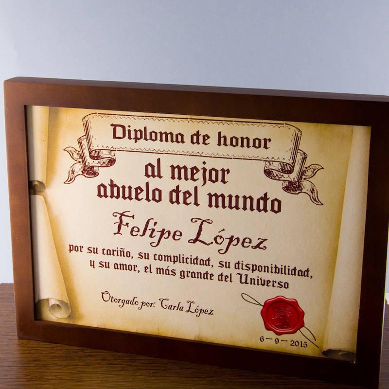 Diploma pergamino al mejor abuelo for Regalos abuela ideas