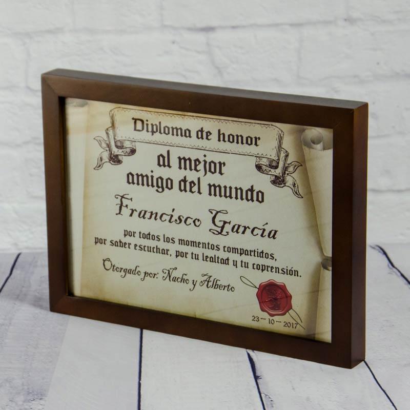 Diploma Pergamino Al Mejor Amigo