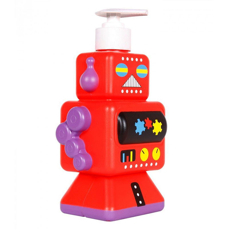 Dispensador de jab n infantil robot for Dispensador de jabon de pared