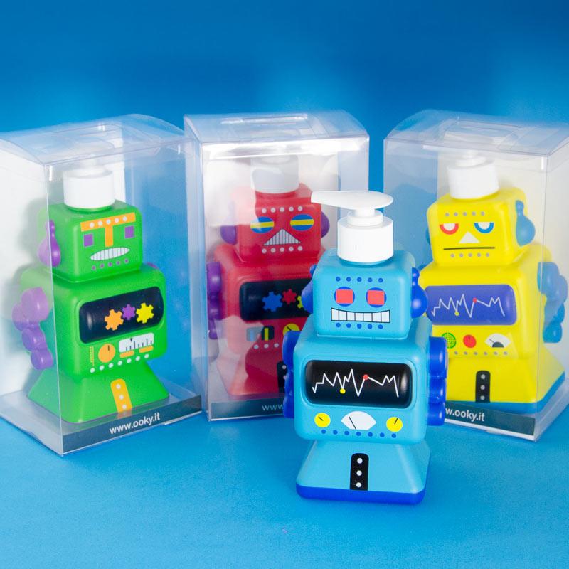 Dispensador de jab n infantil robot for Dispensador de jabon para ducha
