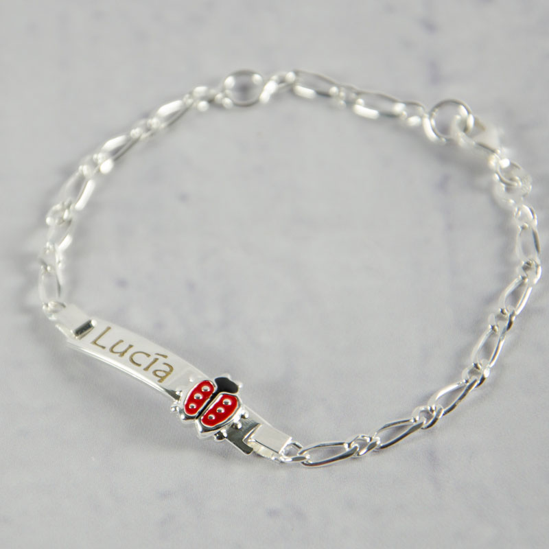 fe387145a133 Regalos personalizados Regalos con nombre  Esclava de plata mariquita  grabada