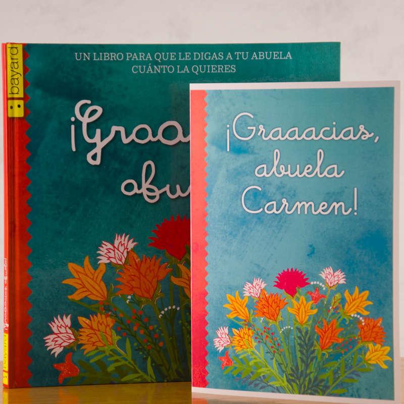 Libro gracias abuela con tarjeta personalizada for Regalos abuela ideas