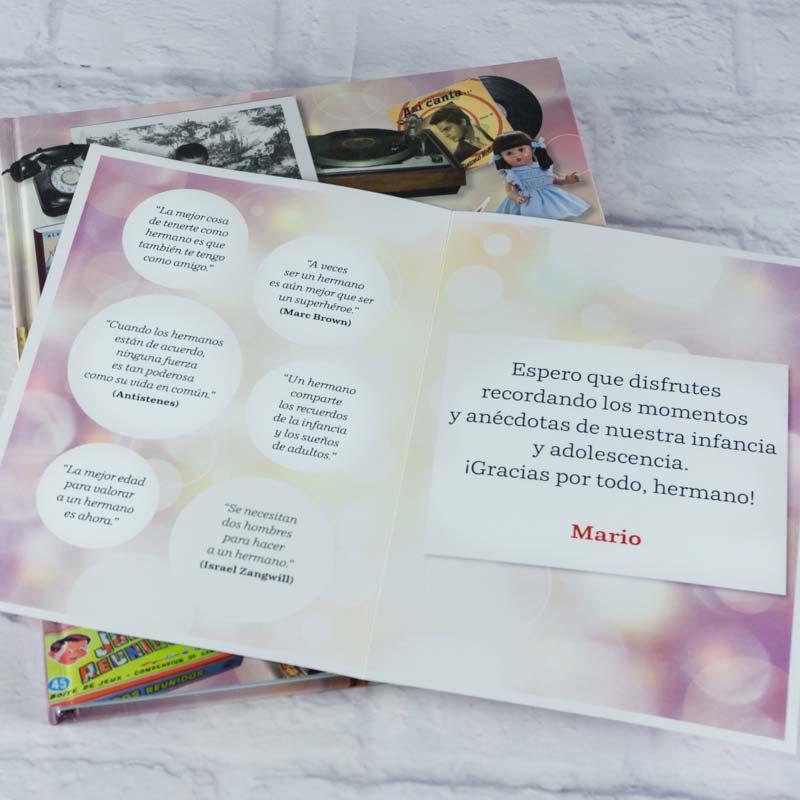 Libro Queridos Recuerdos con tarjeta para hermano