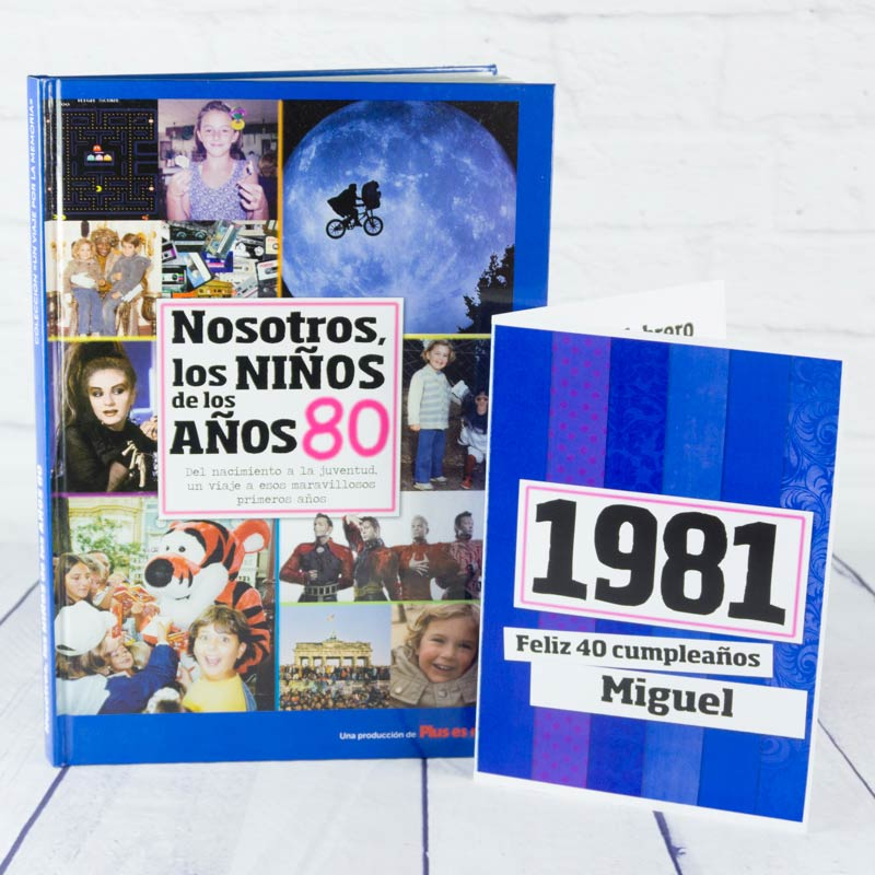 Regalo 40 cumplea os libro con tarjeta - Ideas originales para 40 cumpleanos ...