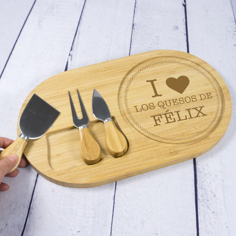 Tabla de quesos personalizada I love...