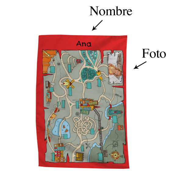 Baño Infantil Medidas: Regalos con fotos: Toalla de baño infantil con foto y nombre