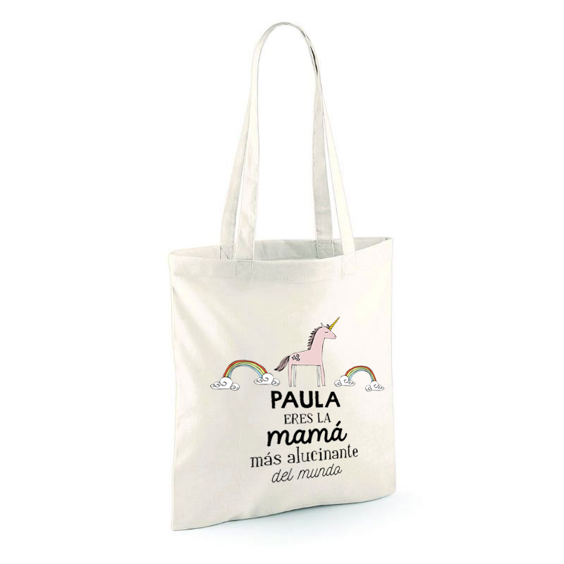 5a72dea5c Regalos personalizados Regalos con nombre: Bolsa tote bag personalizada