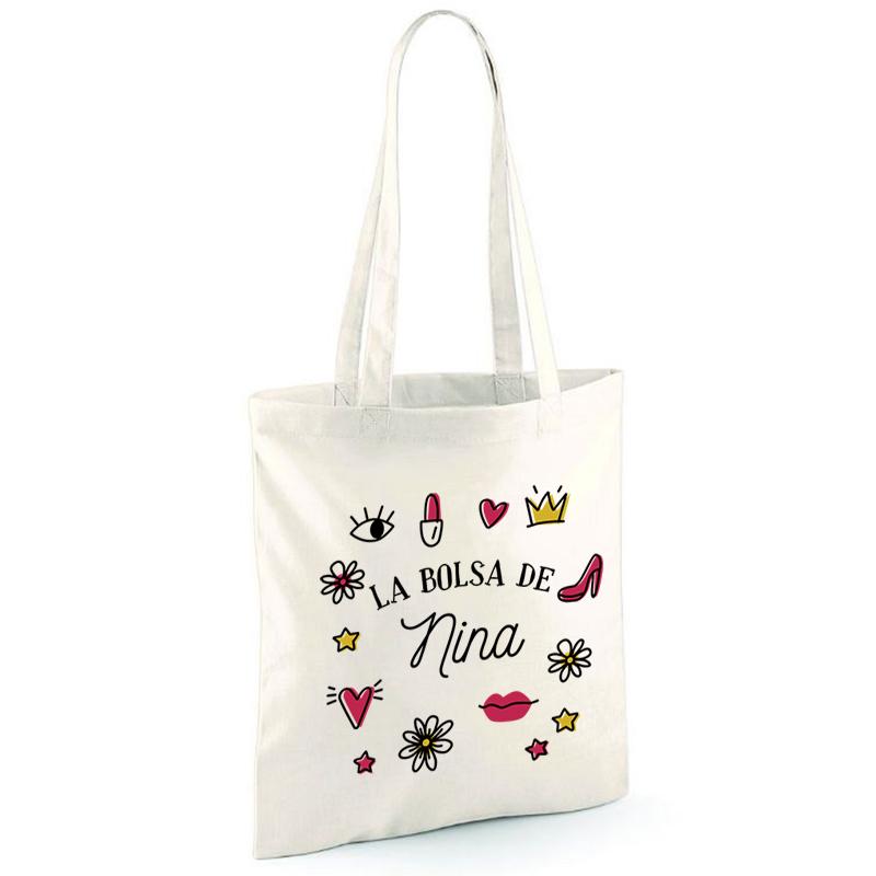 899c3dd92 Regalos personalizados Regalos con nombre: Bolsa tote bag personalizada con  nombre