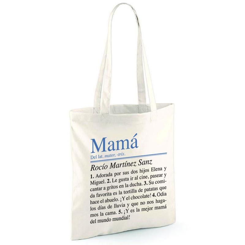 21b3fb917 Regalos personalizados Regalos con nombre: Bolsa tote personalizada para  mamá