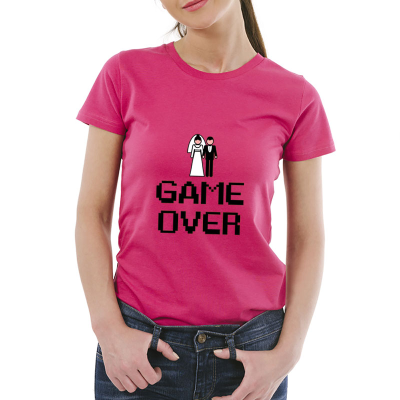 Camiseta despedida de solteras Game over