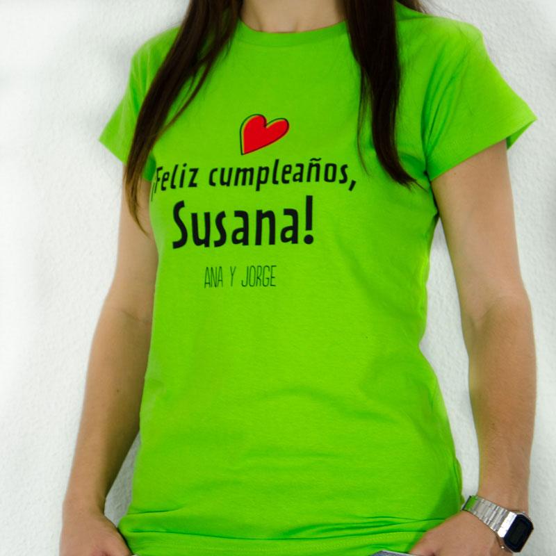 Regalos personalizados Regalos con nombre  Camiseta feliz cumpleaños mujer 6f04c06f2d6a3