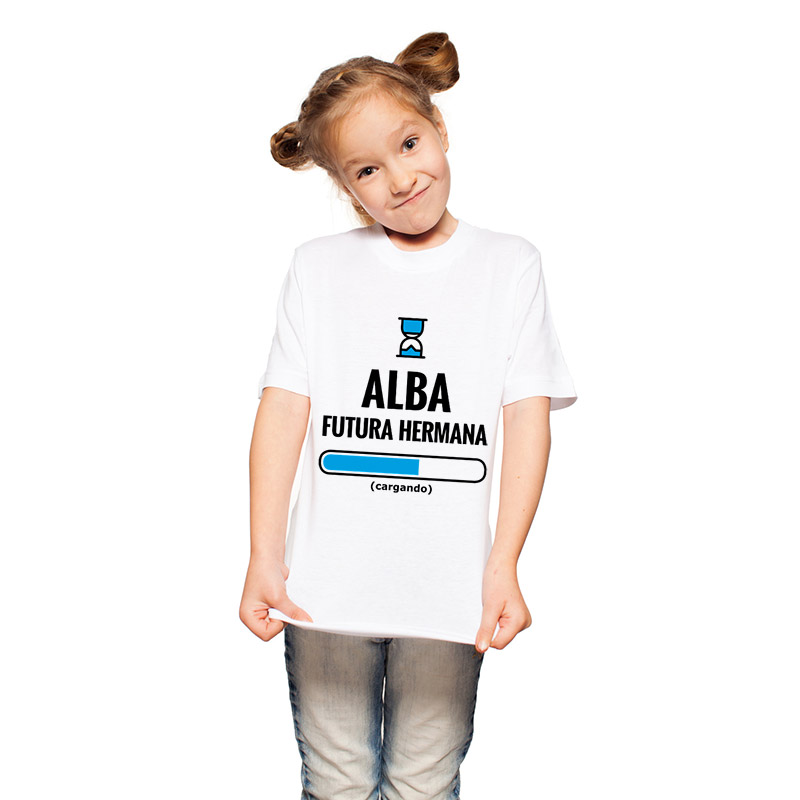 Camiseta futuro hermano o hermana personalizada