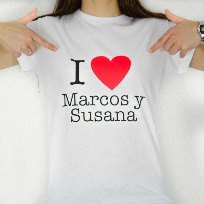 Camiseta LOVE personalizada 38995dfd1ec82