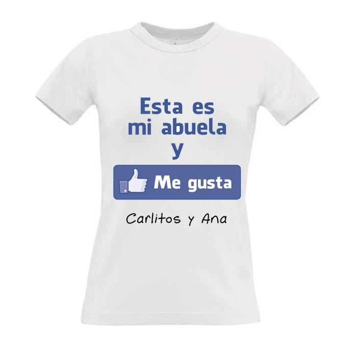 652d8429f Camiseta me gusta mi abuela personalizada