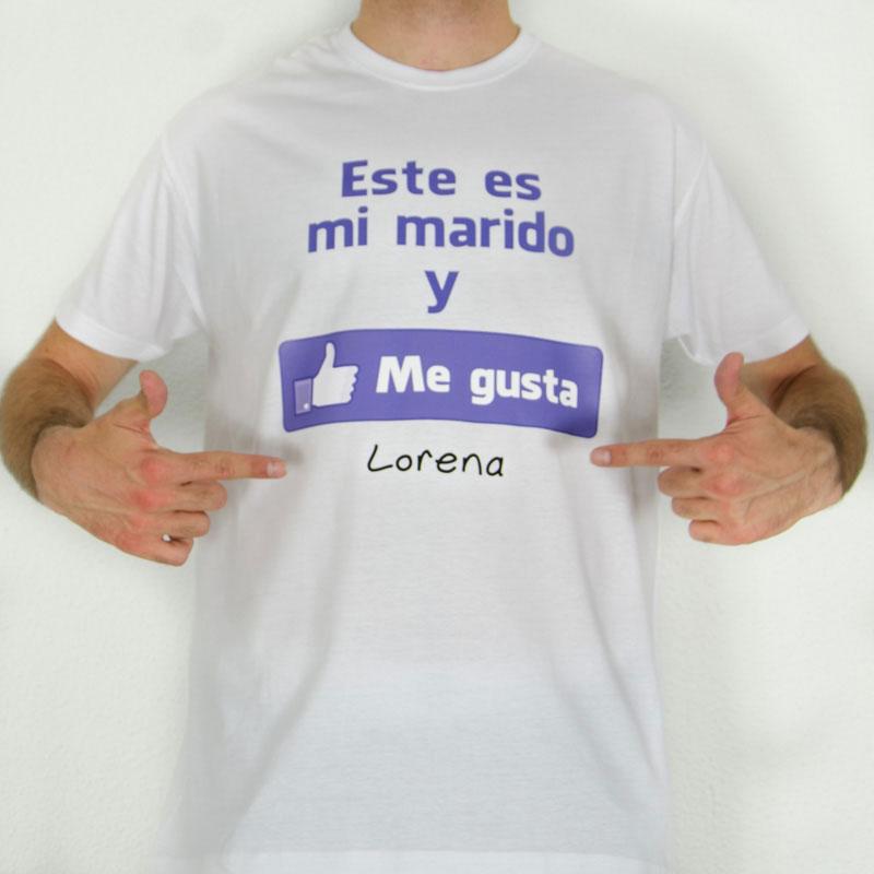 bb28583fa Camiseta me gusta mi marido personalizada