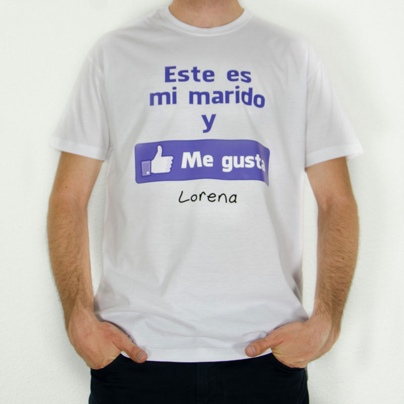 Regalos Personalizados Con Nombre Camiseta Me Gusta Mi Marido Personalizada