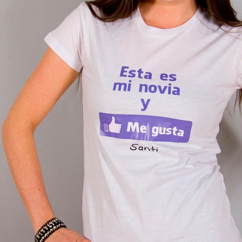 276caa5b7 Camiseta me gusta mi novia personalizada